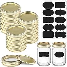 Quart Jar Lids and Rings - Ezeso Regular Mason Jar Lids with Bands - 24 Sets 70mm Quart Jar Lids - Leak Proof Mason Cannin...