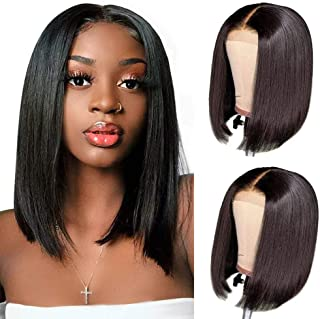Lace Front Human Hair Wigs 4x4 Lace Closure Short Bob Straight Wigs Human Hair Bob Wig Brazilian Virgin Real Hair Wigs for...