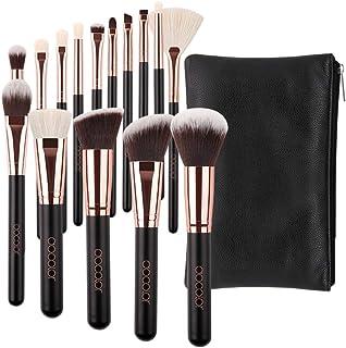 برس برس آرایشی Docolor 15 قطعه برس موی آرایشی Premium Synthetic Gos موهای کابوکی پایه و اساس Blush Face Eyeliner Shadow Brush Brushes Conqualer لبهای زیبایی و آرایشی لب با کیف آرایشی