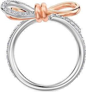 Crystal Lifelong Medium Bow Ring White Mixed Plated