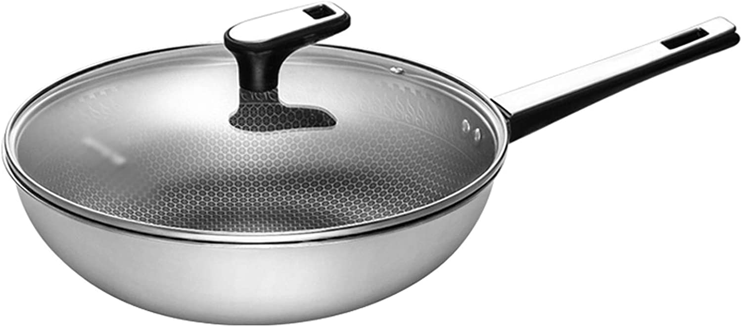 SBSNH 32cm Cheap mail order Beauty products shopping 34cm Household Non-stick Co Pan Smokeless Kitchen Wok