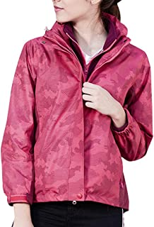 Women's Anorak Jacket Windproof Waterproof Quick Drying Outwear Hooded Anorak Coat Breathable Zipper Sports Athletic Jacket