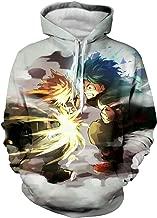 CHENMA Men My Hero Academia 3D Print Pullover Hoodie Sweatshirt with Front Pocket
