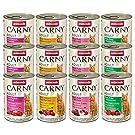 Animonda Carny Adult Mix II Kattenvoer, Natvoer, voor Volwassenen Katten, 12 Stuks (12 x 400 g)