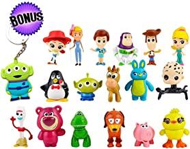 YFTTW Toy Story Action Figures Mini Figurines for Kids – Collectible Toy Store Cake Toppers – Great Party Favors for Toddlers – Action Figure Set with Keychain