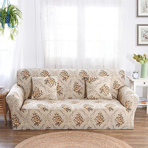 WXQY Funda de sofá de combinación Flexible para Sala de Estar, Funda de sofá con Todo Incluido, Funda Protectora de sofá a Prueba de Polvo, Funda de sofá A6 de 2 plazas
