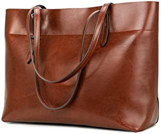 brown leather tote bag with zipper