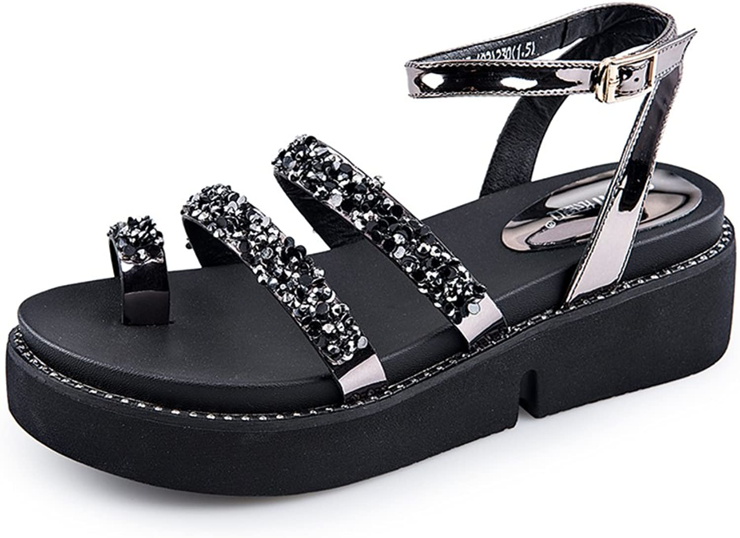 MET RXL Summer,Circled Sandals Muffins,Thick and Low shoes Ladies High Heels