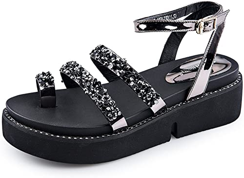 Summer,Sandales Summer,Sandales Summer,Sandales Cerclé Muffins,Chaussures épaisses Et Basses Ladies High Heels aa2