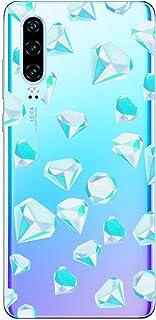 Oihxse Funda Dibujos Diamantes Brillantes Compatible OnePlus 6T Transparente Silicona TPU Bumper Case Ultra Delgado Crysta...