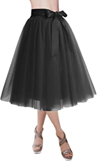 DRESSTELLS Knee Length Tulle Skirt Tutu Skirt Evening...