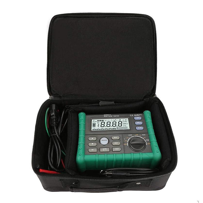 尋ねる怒りわずかにRCD/ループ抵抗テスター、USBインターフェースを備えた回路トリップ電流時間検出器、トリップ電流および時間測定用、接触電圧測定、ループ抵抗(RL)測定