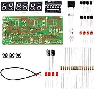 WHDTS C51 6-Digit DIY Digital Electronic Clock Kit AT89C2051 Chip Alarm Clock Kit Soldering Practice Learning Kits