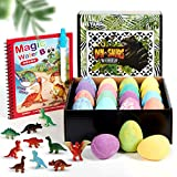 Bath Bombs for Kids Dino Egg with Surprise Inside Dinosaur Toys Natural Bubble Bath Balls Set Spa Fizzies Bathbombs Organic and Safe for Christmas Birthday Easter Gifts Boys and Girls Gifts Kit