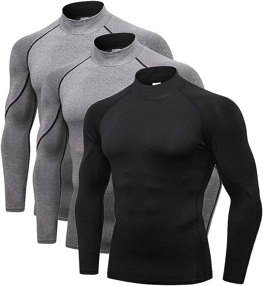 Spozeal Men's Athletic Mock Turtleneck Long Shirts Regular discount Compression Max 86% OFF S