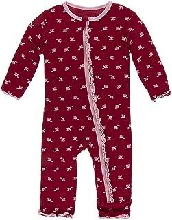 Kickee Pants Little Girls Solid Muffin Ruffle Coverall (Zipper)