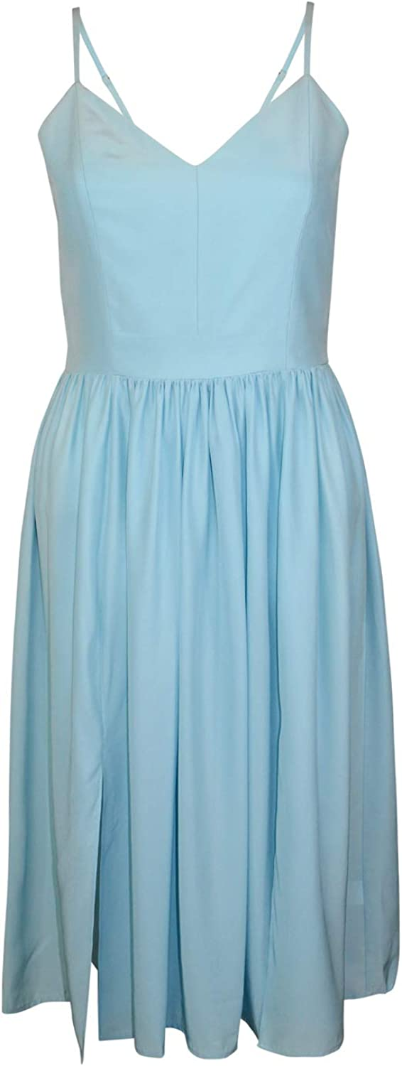 Amanda Uprichard Womens Dawn Dress Aqua P, S, L