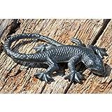 Eidechse Salamander Gusseisen schwarz Gartendekoration 16cm