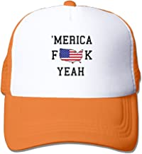ZXM Caps American Fuck Yeah Summer Printed Adjustable Stylish Personalized Casual Mesh Hats