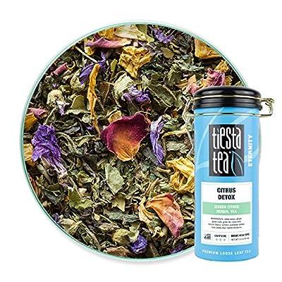 Tiesta Tea - Citrus Detox, Loose Leaf Ginger Citrus Herbal Tea, High Caffeine, Hot & Iced Tea, 3 oz Tin - 50 Cups, Natural, Turmeric, Detox Tea, Herbal Tea Loose Leaf from Tiesta Tea Company