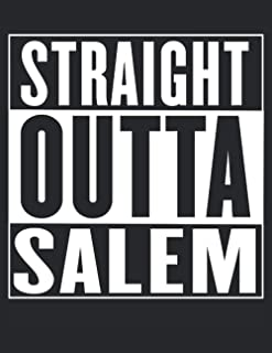 """Half Graph Half Lined Notebook: Straight Outta Salem: 120 Half Graph -Lined Pages, 8,5"""" x 11 inches; plus Calendar 2021, M..."""