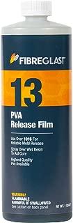 Fibre Glast PVA Release Film - 1 Quart - Sprays On – Easy Release for Molds …