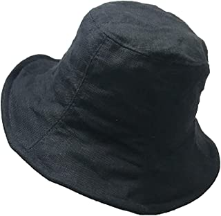 Japanese Literary Style Collapsible Linen Bucket Hats Outdoor Leisure Sunscreen Solid Color Hat