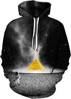 Zegoo Unisex Mens Hoodies Sweatshirt 3D Print Colorful Galaxy Pullover Halloween Costume