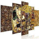 murando Cuadro en Lienzo Gustav Klimt 225x100 cm Impresión de 5 Piezas Material Tejido no Tejido Impresión Artística Imagen Gráfica Decoracion de Pared Beso Artet l-A-0031-b-m