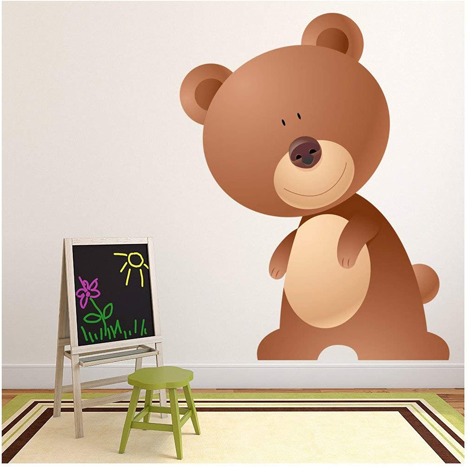 Brown Bear Wall Sticker Cute Animals Wall Decal Kids Nursery Home Decor available in 8 Sizes XX-Large Digital