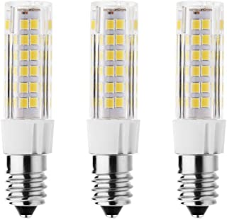 RAYHOO 3pcs E14 Base LED Light Bulbs 7W Equivalent to 60W Incandescent Bulb E14 European Base Bulb, 75-2835-SMD LED Chipsets, Not Dimmable, 110-130V, Warm White 2800-3200K, 500LM