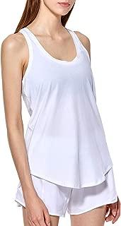 CRZ YOGA Women's Flowy Lightweight Pima Cotton Workout Tank Tops-Soft Racerback Athletic Yoga Tanks