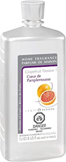 Grapefruit Passion | Lampe Berger Fragrance Refill for Home Fragrance Oil Diffuser | Purifying and perfuming Your Home | 33.8 Fluid Ounces - 1 Liter | Made in France