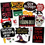 SYGA Set of 22 Halloween Party Photo Booth Props
