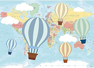 Allenjoy 7x5ft Hot Air Balloon Birthday Backdrop Oh The Places You'll go Photography Background Travel and Adventure Pilot 1st First Birthday Baby Shower Party Table Decor Photo Studio Prop