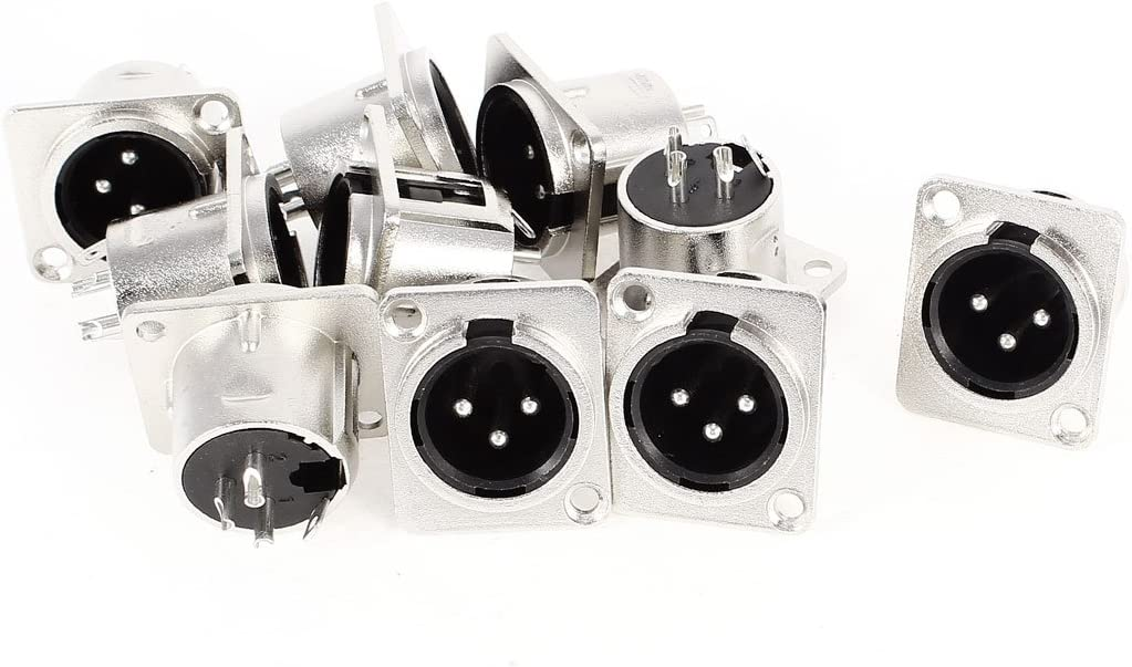 uxcell 10 x XLR Male Chassis Panel Special Campaign Mount Pin Ranking TOP4 3 Audio Stud Socket