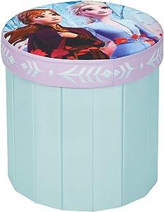 "Disney Frozen 2 Round Storage, 15"" Toy Box Ottoman"