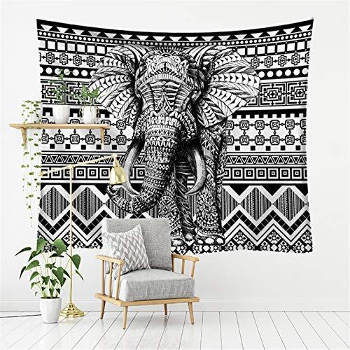 DHHY Tapiz con Estampado De Elefante, Decoración del Hogar, Lienzo para Colgar En La Pared del Dormitorio, Pintura De Fondo para Sala De Estar De Fibra De Poliéster95*73cm