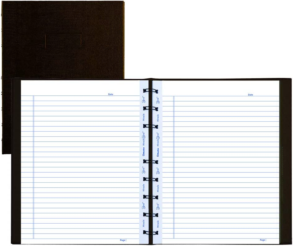 Blueline Business Notebooks Black 9.25x7.25 192 Sht Ruled A9 Pack Of 5