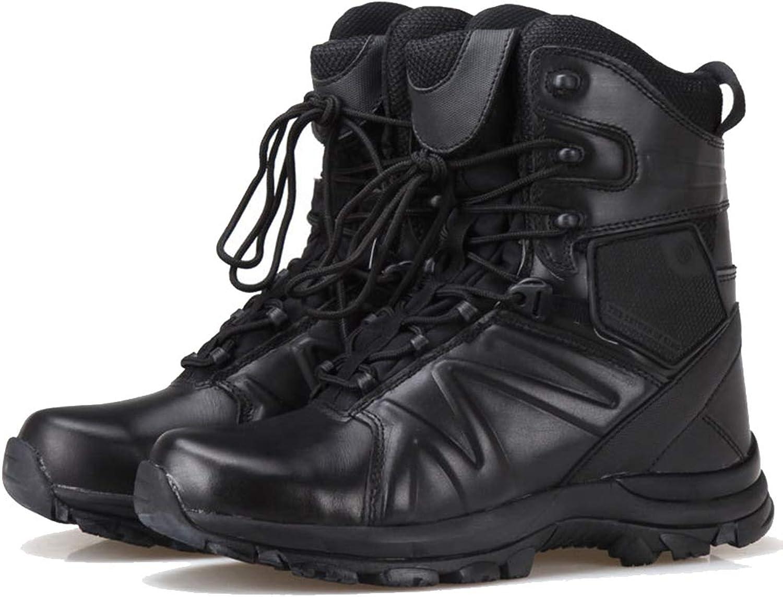 JXMES Bottes de Combat pour Hommes Bottes Militaires Patrouille Chaussures étanches Randonnée Tactique Sécurité des Cadets Bottines Bottes de Surveillance