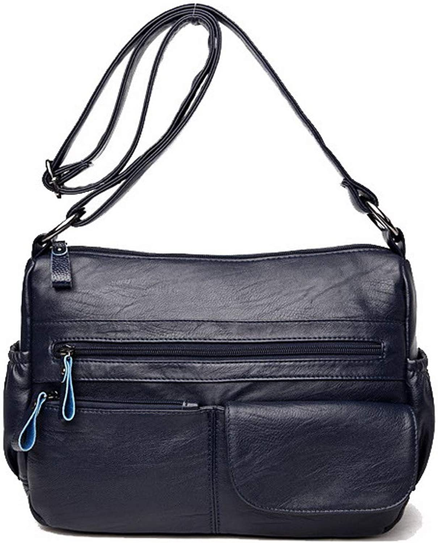 AmoonyFashion Women's Bags Casual Zippers PU Crossbody Bags,BUTBT181563