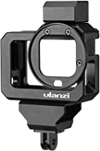 قفص فيديو كاميرا عمل من Honorall G8-5 متوافق مع GoPro Hero 8 Black Vlog Case Housing من سبائك الألومنيوم مع حامل الحذاء المزدوج البارد 52 مم محول فلتر
