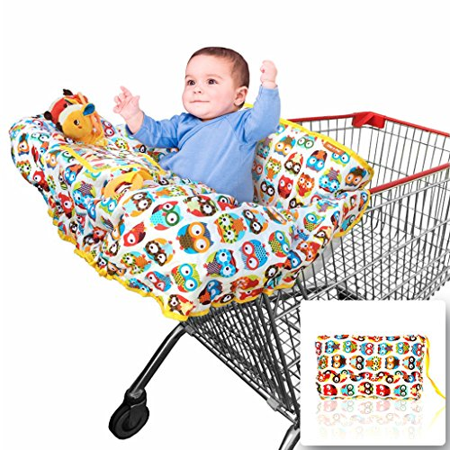 2-in-1 Shopping Cart Cover and High Chair Covers for Baby Boy or Girl - Toy...