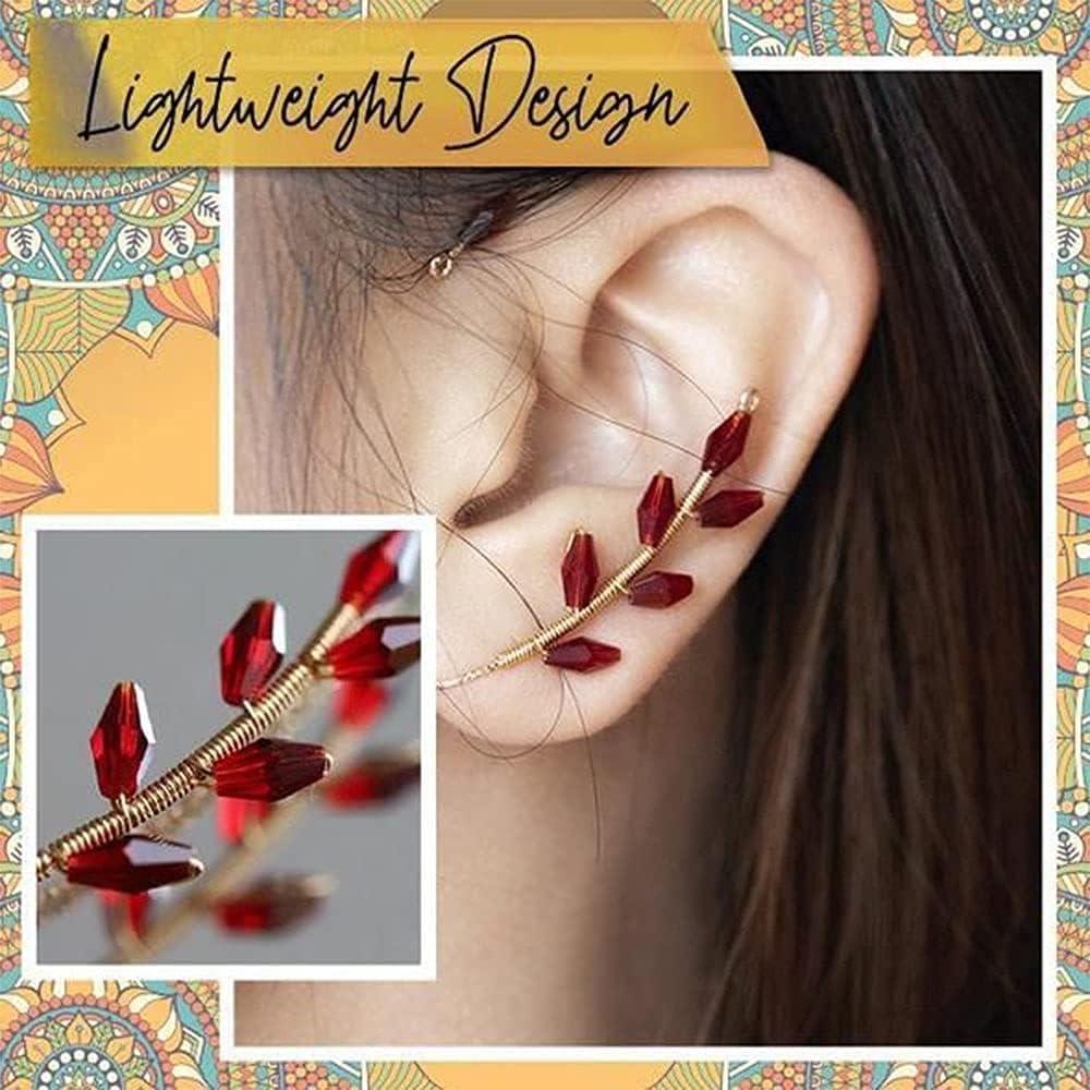 1 Pair Ear Wraps, Vintage Earrings,Cuff Ear Bone Clip,Vintage Ear Cuff Earrings Wrap Around,Ear Wrap Crawler Hook Earring Pairs,Non Piercing Ear Wrap,Ear Cuff Earrings for Women Non Pierced (Pearl)
