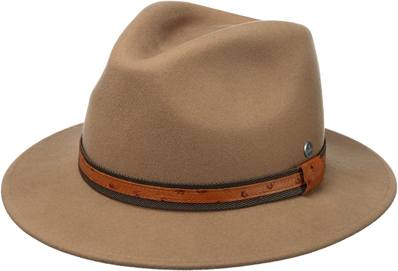 cheap Lierys Pento Wool Hat with Leather High quality new Band - in Ital Women Men Made