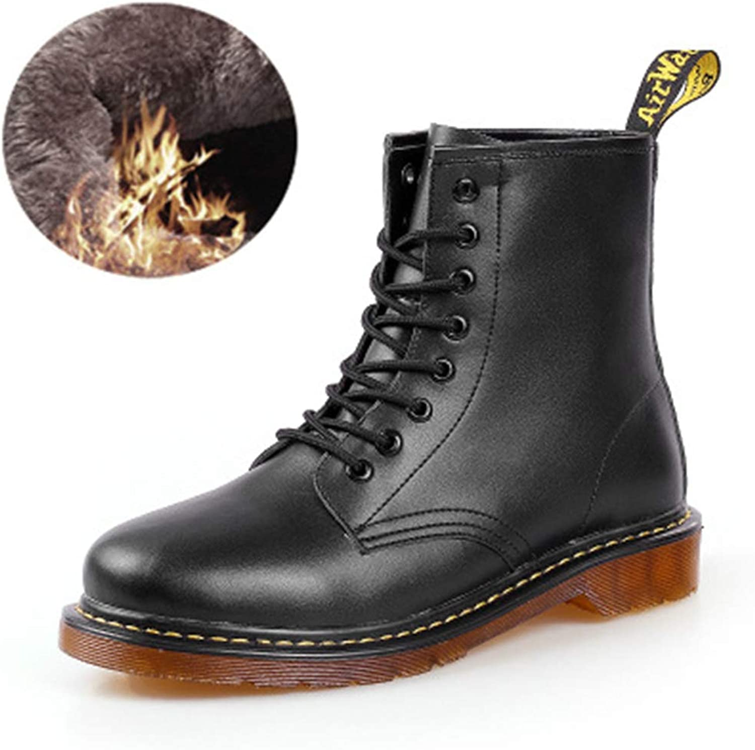 KAOKAOO Couple Military Lace-up shoes Combat Boots Ankle