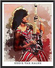 DAPA GL Eddie Van Halen Legandary Rock Guitarist Print, Watercolour Poster, Rock Singer Art, Music Poster Wall Décor 8x10 Unframed