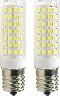 E17 LED Bulb - Attaljus E17 Microwave Oven Appliance Light Bulbs, 7W (60W Halogen Bulb Equivalent), 580LM Daylight White 6000K, Dimmable Corn Bulbs for Over The Counter Range Hood, Pack of 2