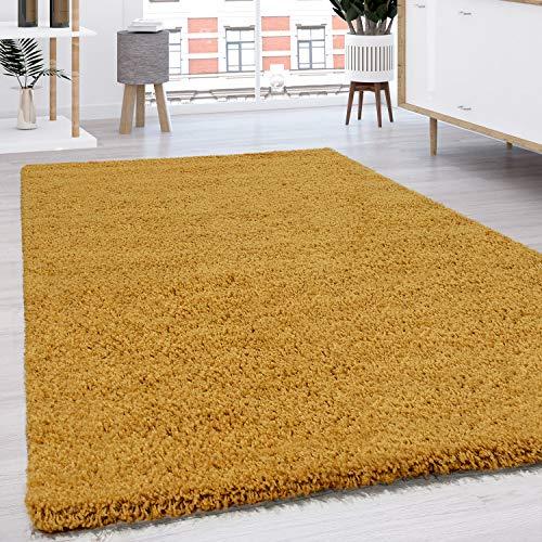 Paco Home Hochflor Shaggy Langflor Teppich versch. Farben u. Grössen TOP Preis NEU*OVP, Grösse:60x100 cm, Farbe:Gelb