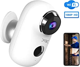 Wireless Outdoor Security Camera, YXwin 1080P Home Security Rechargeable Battery Powered Camera 2.4G WiFi with Night Vision, Motion Detection, 2-Way Audio, IP65 Waterproof, Cloud Storage/SD Slot